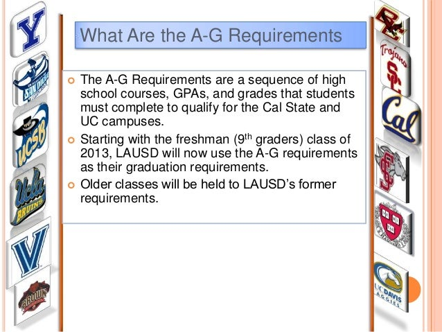 A-g high school requirements