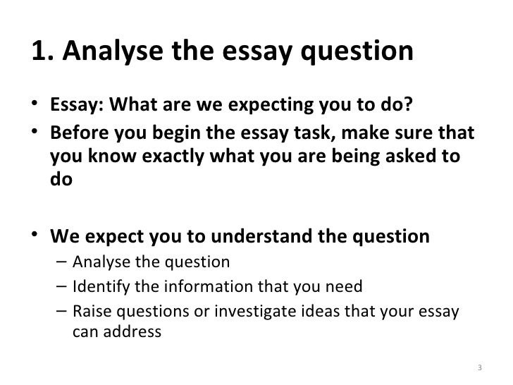 How to analyse essay on image