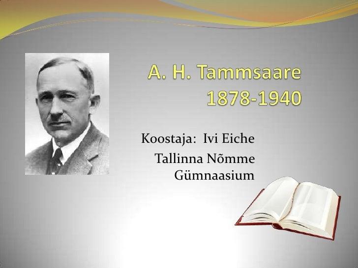 A. H. Tammsaare
