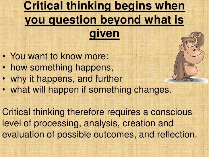 Critical thinking thesis