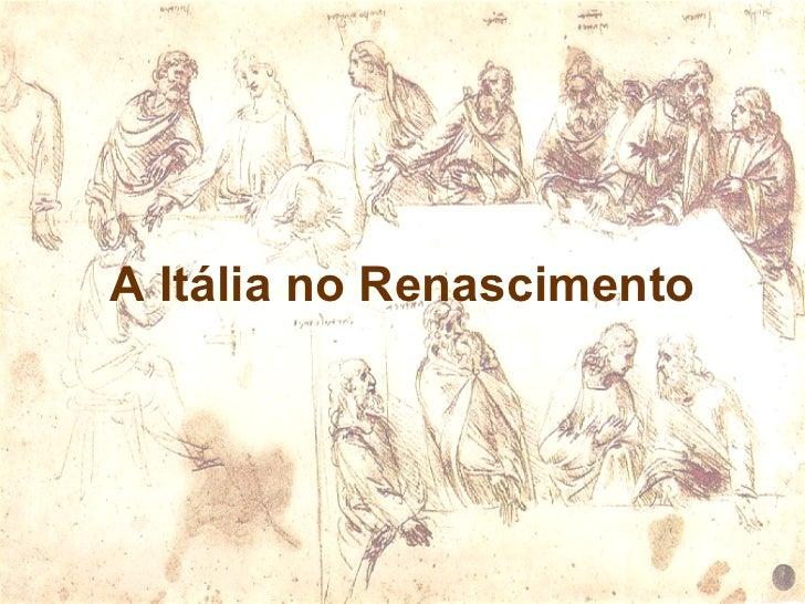 A Itália do Renascimento