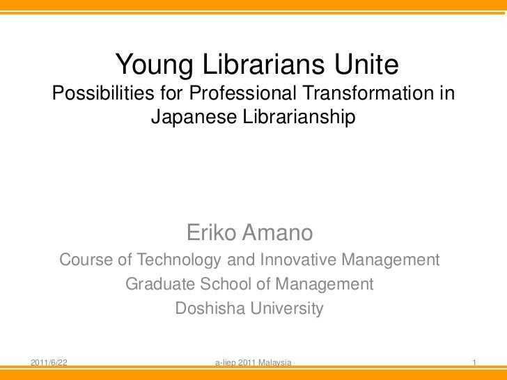 Young Librarians Unite     Possibilities for Professional Transformation in                  Japanese Librarianship       ...