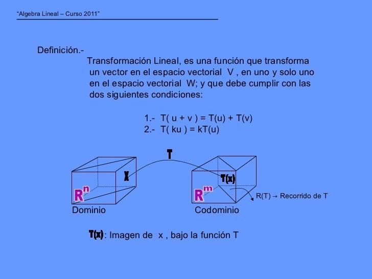 nucleo e imagen de una transformacion lineal pdf free