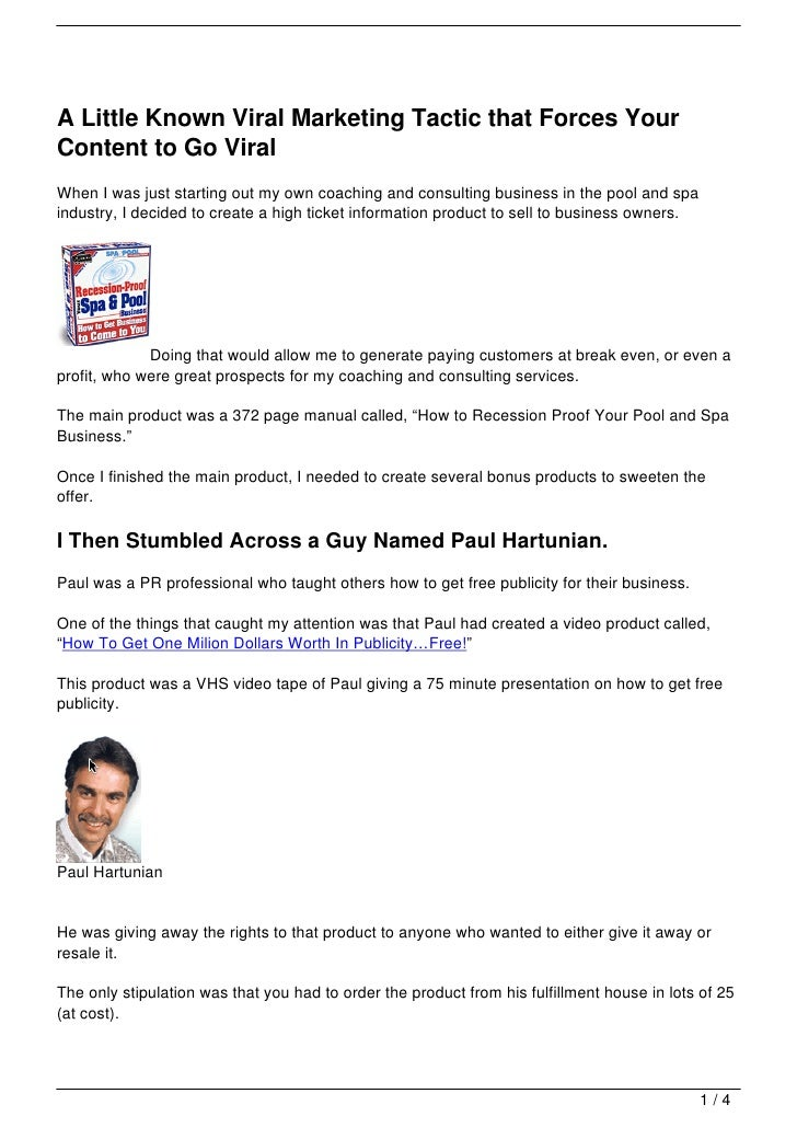 A Little Known Viral Marketing Tactic that Forces YourContent to Go ViralWhen I was just starting out my own coaching and ...