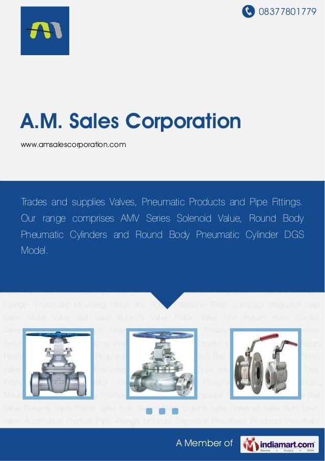 08377801779A Member ofA.M. Sales Corporationwww.amsalescorporation.comGate Valve Globe Valve Ball Valve Butterfly Valve Pi...