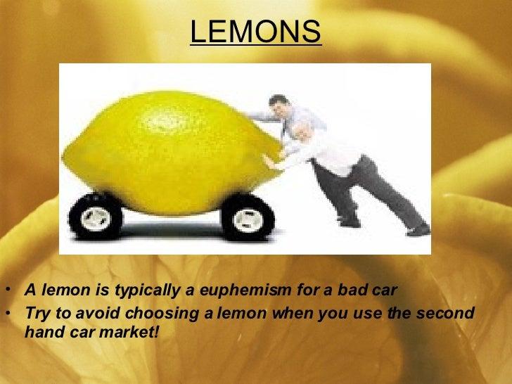 A Market For Lemons