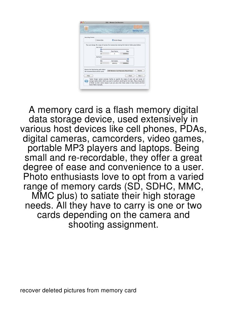 A memory card is a flash memory digital  data storage device, used extensively invarious host devices like cell phones, PD...