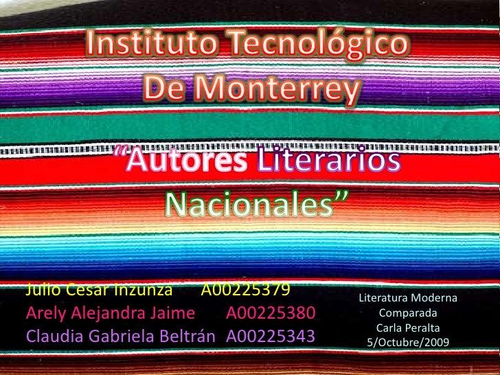"""""""Autores Mexicanos"""""""