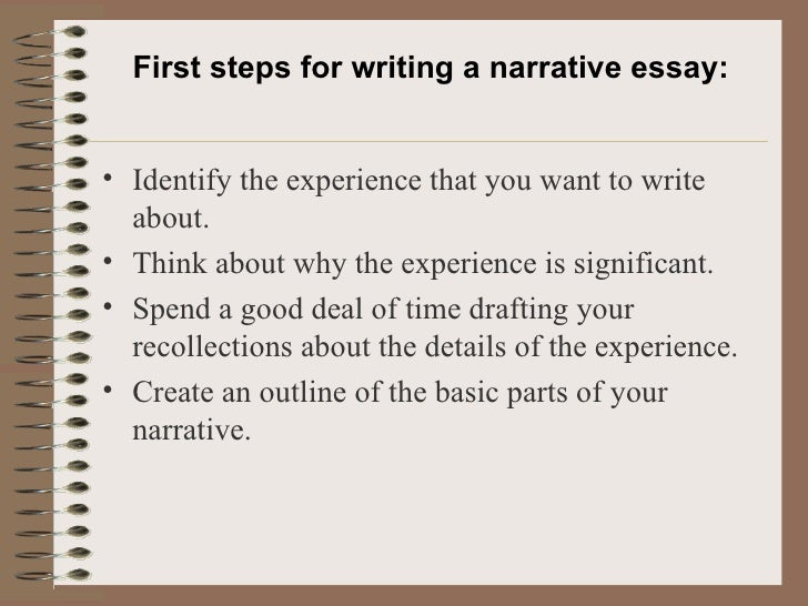 Steps writing narrative essay