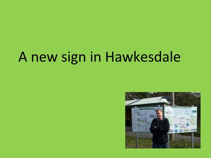 A new sign in Hawkesdale