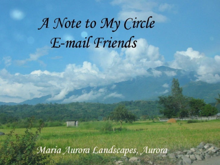 A Note To My Circle Of E Mail Friends
