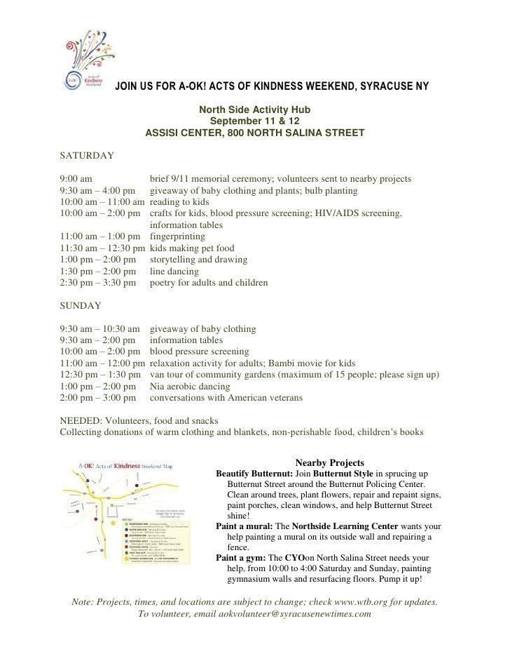 A-OK! Weekend Hub Activities