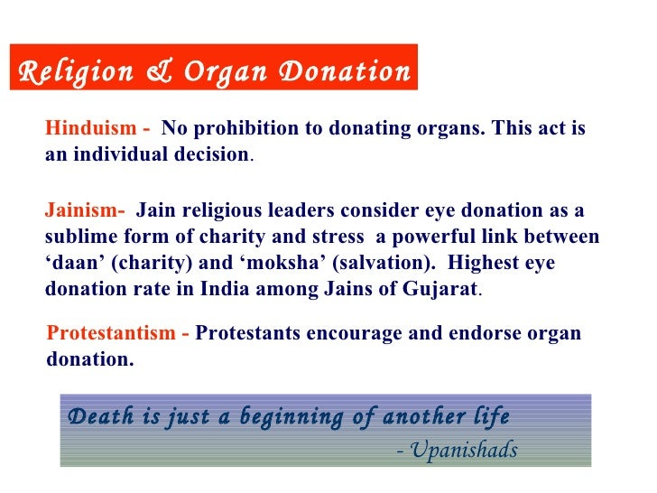 organ donation and religion essay It had been reported that the formal position of a religion to organ donation and transplant play an important factor in persuading the community regarding organ.