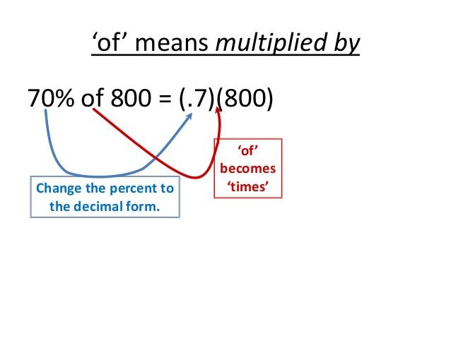 in decimal form percent