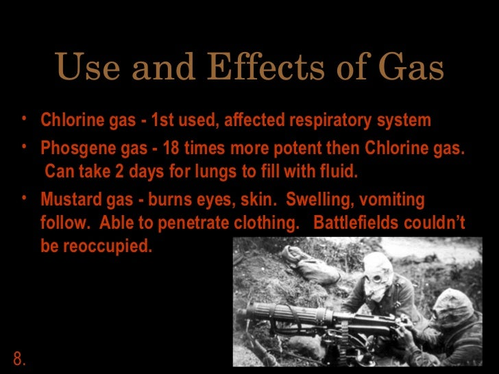 Chlorine gas ww1 effects