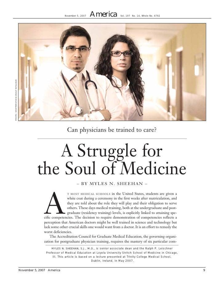 A  Struggle For The  Soul Of  Medicine
