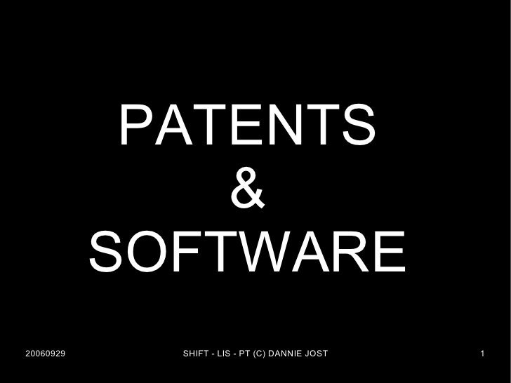 PATENTS & SOFTWARE