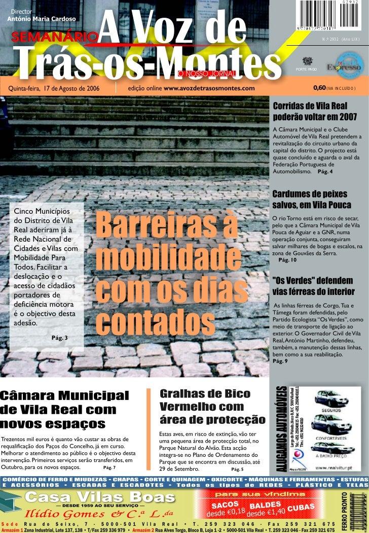 A VOZ DE TRÁS-OS-MONTES – 17.08.2006