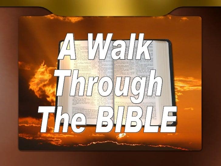 A Walk Through The Bible (1)
