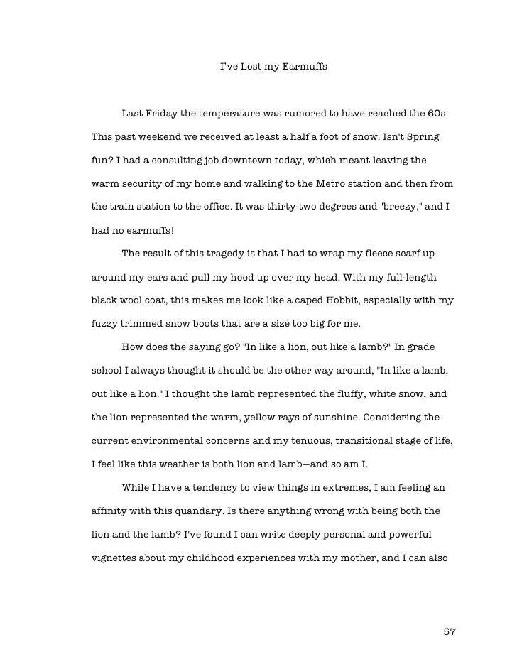 essay for memory