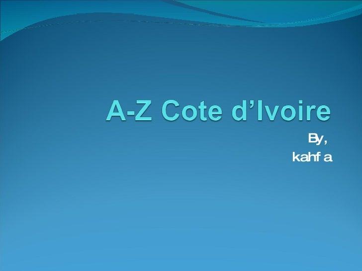 A Z Cote D'Ivoire