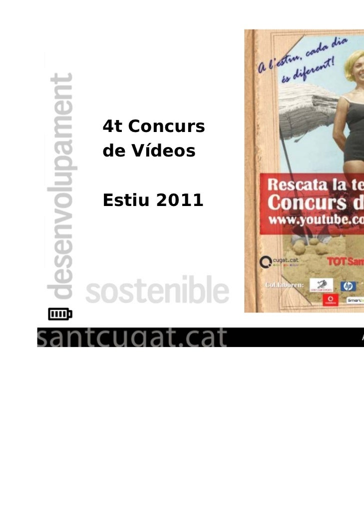 4t Concursde VídeosEstiu 2011