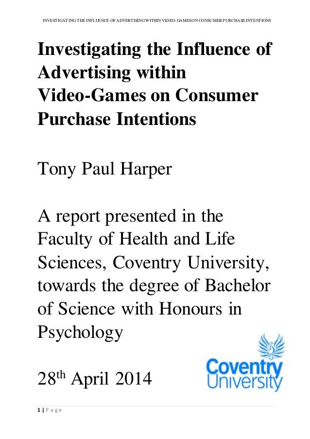 Dissertation consumer intention return