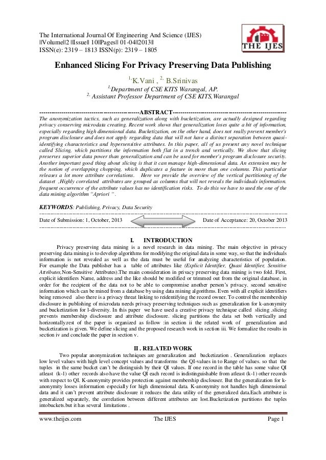 The International Journal Of Engineering And Science (IJES) ||Volume||2 ||Issue|| 10||Pages|| 01-04||2013|| ISSN(e): 2319 ...