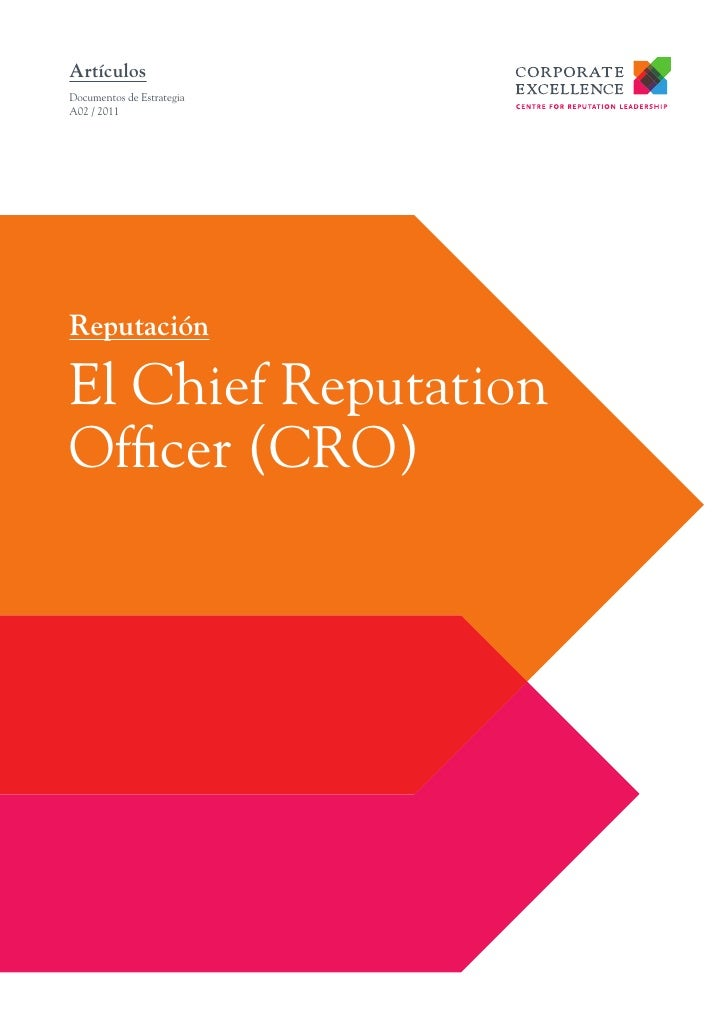 El Chief Reputation Officer (CRO)
