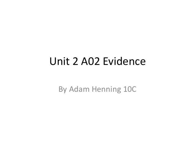 A02 evidence