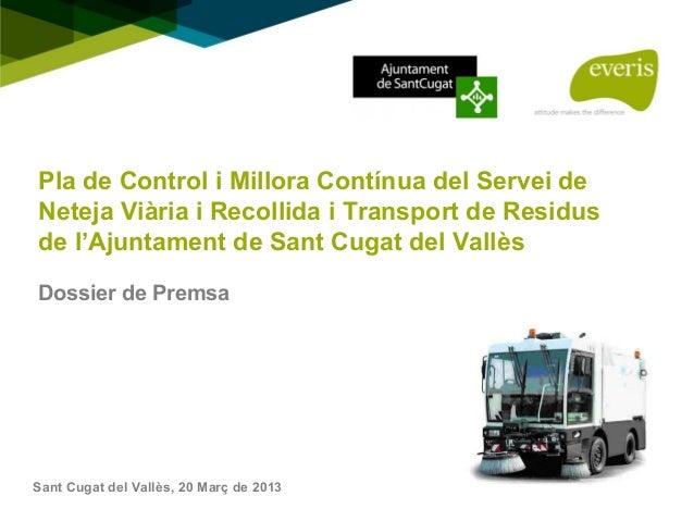 Presentació Pla de Control i Míllora Contínua al Servei de Neteja Sant Cugat
