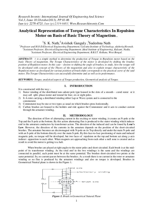 Research Inventy: International Journal Of Engineering And Science Vol.3, Issue 10 (October2013), PP 01-06 Issn (e): 2278-...