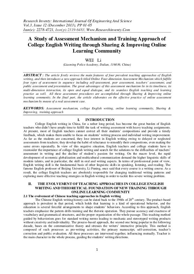 Research Inventy: International Journal Of Engineering And Science Vol.3, Issue 12 (December 2013), PP 01-05 Issn(e): 2278...