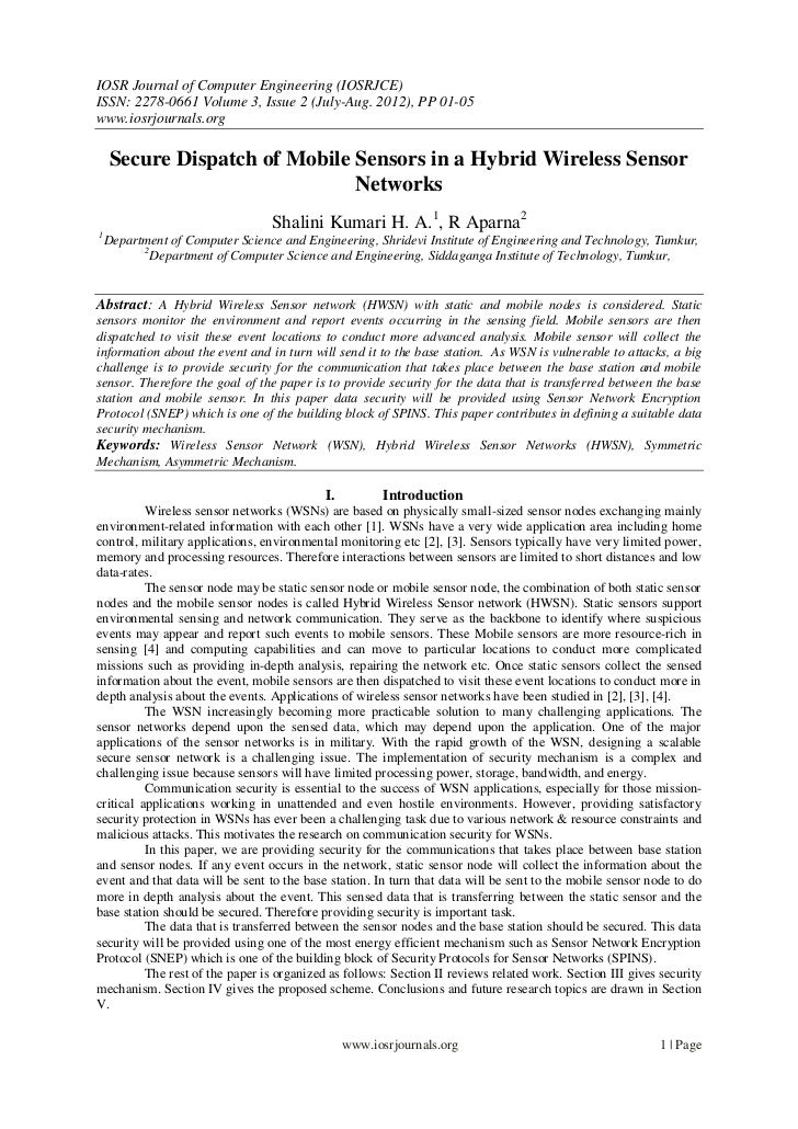IOSR Journal of Computer Engineering (IOSRJCE)ISSN: 2278-0661 Volume 3, Issue 2 (July-Aug. 2012), PP 01-05www.iosrjournals...
