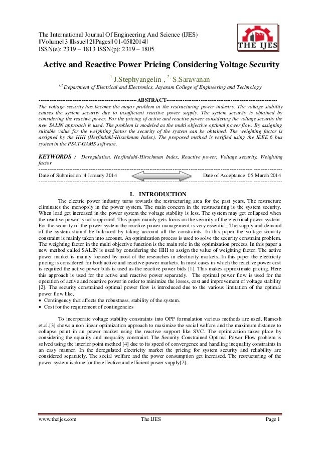The International Journal Of Engineering And Science (IJES)   Volume  3   Issue   2  Pages   01-05  2014   ISSN(e): 2319 –...