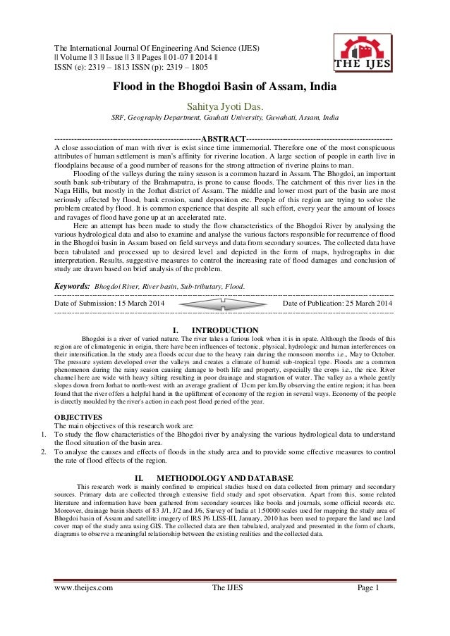 The International Journal Of Engineering And Science (IJES) || Volume || 3 || Issue || 3 || Pages || 01-07 || 2014 || ISSN...