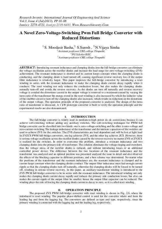 Research Inventy: International Journal Of Engineering And Science Vol.3, Issue 4 (July2013), PP 01-08 Issn(e): 2278-4721,...