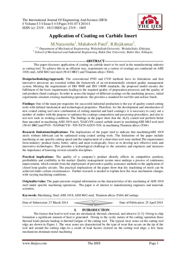 The International Journal Of Engineering And Science (IJES) || Volume || 3 || Issue || 4 || Pages || 01-07 || 2014 || ISSN...