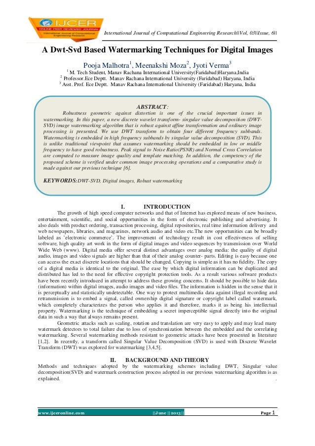 International Journal of Computational Engineering Research||Vol, 03||Issue, 6||www.ijceronline.com ||June ||2013|| Page 1...