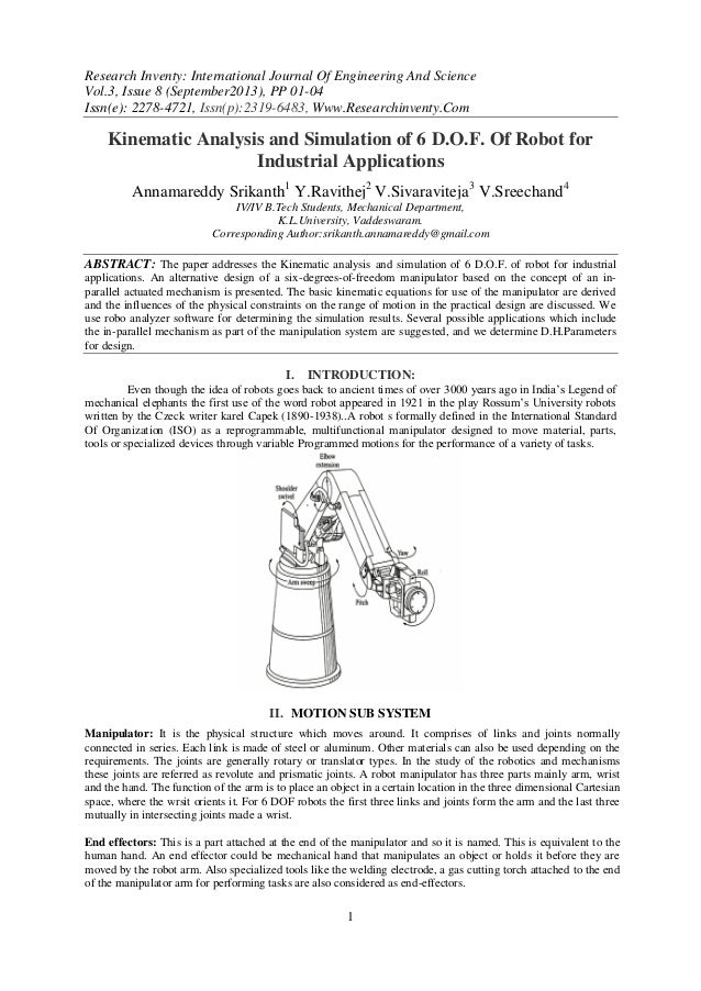 Research Inventy: International Journal Of Engineering And Science Vol.3, Issue 8 (September2013), PP 01-04 Issn(e): 2278-...