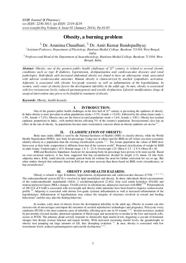 IOSR Journal 0f Pharmacy (e)-ISSN: 2250-3013, (p)-ISSN: 2319-4219 www.iosrphr.0rg Volume 4, Issue 01 (January 2014), Pp 01...