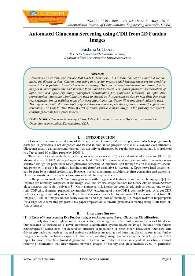 ISSN (e): 2250 – 3005 || Vol, 04 || Issue, 5 || May – 2014 || International Journal of Computational Engineering Research ...