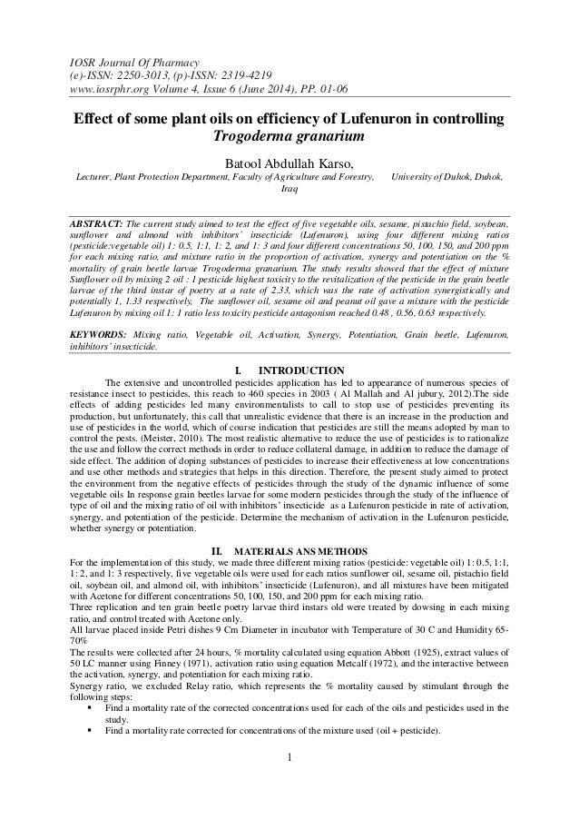 IOSR Journal Of Pharmacy (e)-ISSN: 2250-3013, (p)-ISSN: 2319-4219 www.iosrphr.org Volume 4, Issue 6 (June 2014), PP. 01-06...