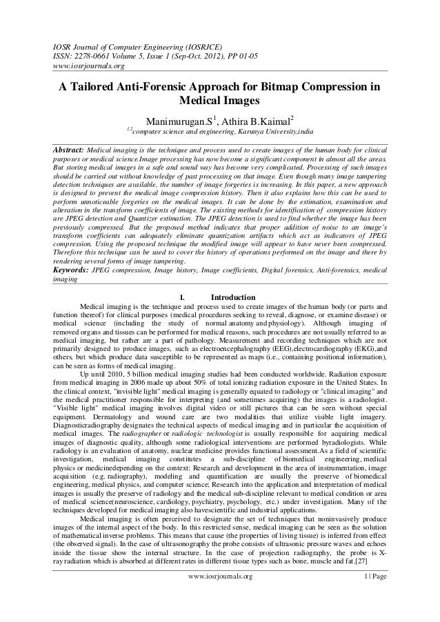 IOSR Journal of Computer Engineering (IOSRJCE) ISSN: 2278-0661 Volume 5, Issue 1 (Sep-Oct. 2012), PP 01-05 www.iosrjournal...