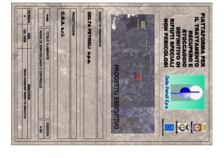 A05 piano di sorveglianza e controllo