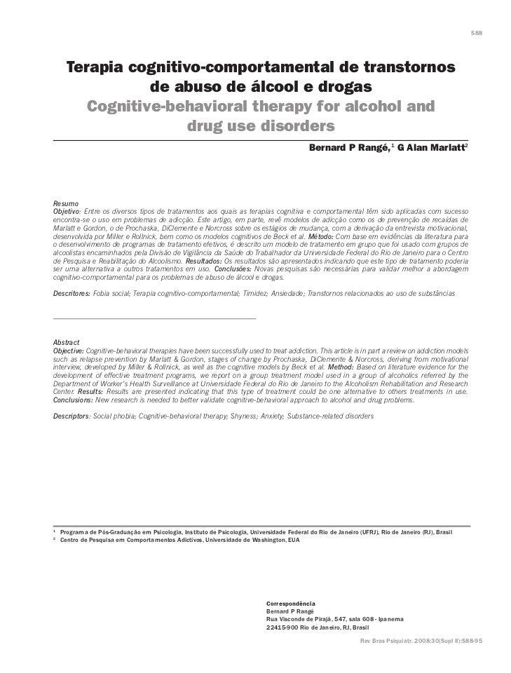 S88       Terapia cognitivo-comportamental de transtornos                 de abuso de álcool e drogas         Cognitive-be...