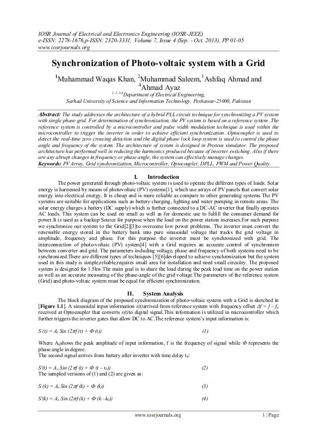 IOSR Journal of Electrical and Electronics Engineering (IOSR-JEEE) e-ISSN: 2278-1676,p-ISSN: 2320-3331, Volume 7, Issue 4 ...