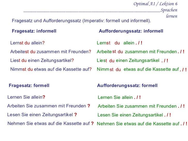 Optimal A1 / Lektion 6       ____________________________________________________Sprachen                                 ...