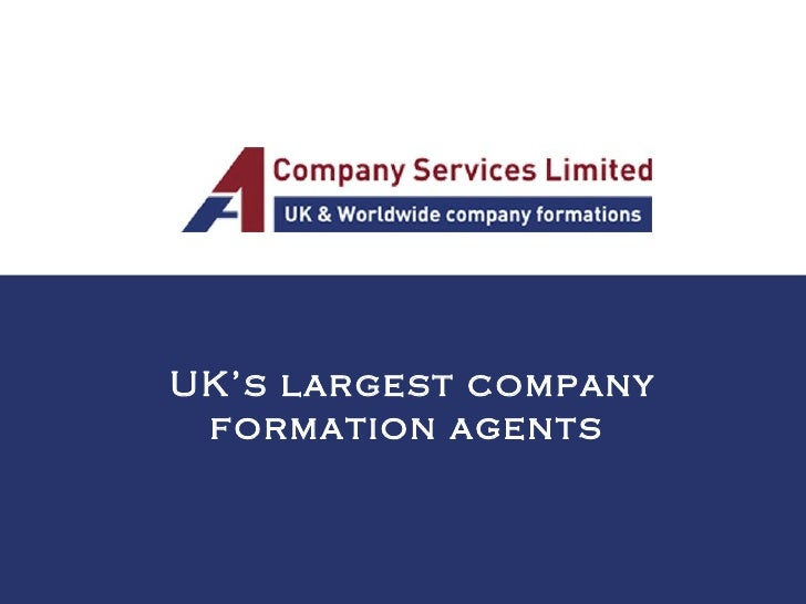 UK's largest company formation agents