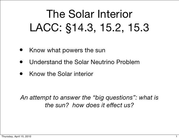 A1 15 Our Sun